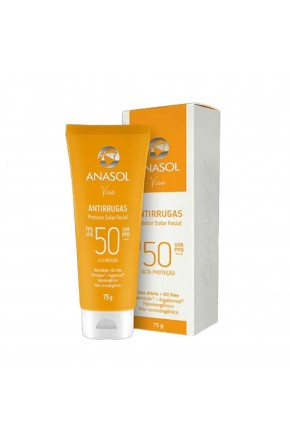 protetor solar facial anasol antirrugas fps 50 75g