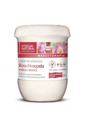 creme de massagem dagua 650gr rosa mosqueta