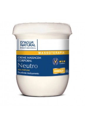 creme de massagem corporal neutro 650gr d agua natural