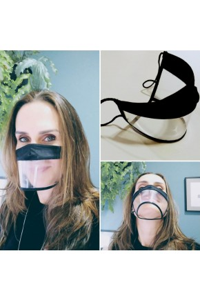 mascara facial expressao transparente